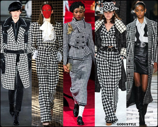 houndstooth, pata de gallo, fall 2019, fashion, trends, tendencias, moda, otoño 2019, invierno 2020, look, style, details, fashion weeks