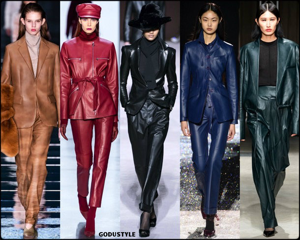 leather, cuero, fall 2019, fashion, trends, tendencias, moda, otoño 2019, invierno 2020, look, style, details, fashion weeks