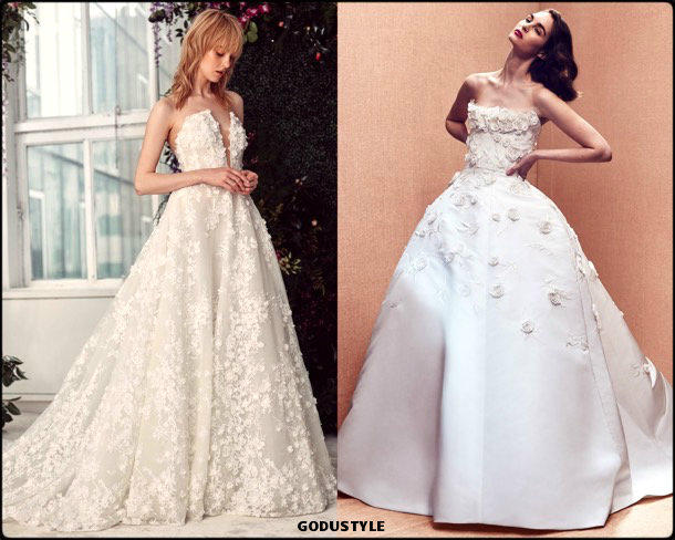 3d florals, bridal, spring 2020, trends, novias, verano, 2020, tendencias, look, style, details, wedding dress, vestidos boda, flores 3d