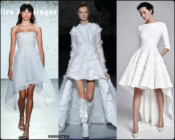 high low, bridal, spring 2020, trends, novias, verano, 2020, tendencias, look, style, details, wedding dress, doble altura