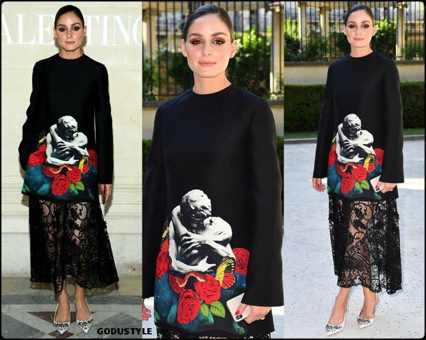 olivia palermo, look, valentino, front row, couture, fall 2019, style, details, shopping, outfit, streetstyle