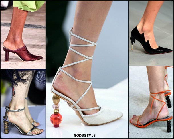 sculptural heels, shoes, summer 2019, tacones esculturales, zapatos, verano 2019, trends, tendencias, zapatos moda, fashion shoes