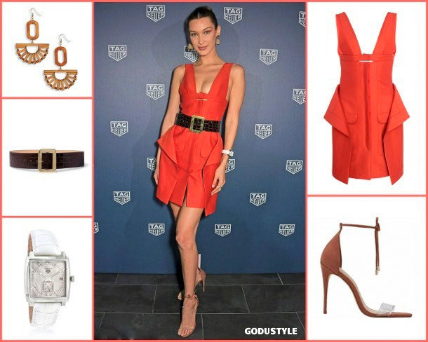 bella hadid, living coral, color, pantone, 2019, fashion, look, street style, shopping, details, trend, moda, outfit, tendencia