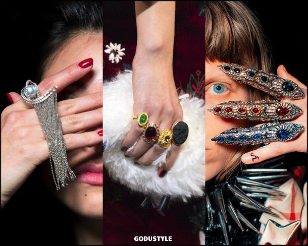 multiple rings, jewelry, trends, fall 2019, winter 2020, fashion, look, style, details, joyas, tendencias, otoño 2019, invierno 2020, moda, design