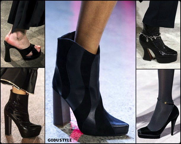 platforms, fashion, shoes, fall 2019, trends, plataformas, zåpatos, moda, invierno 2020, tendencias, runway, pasarelas