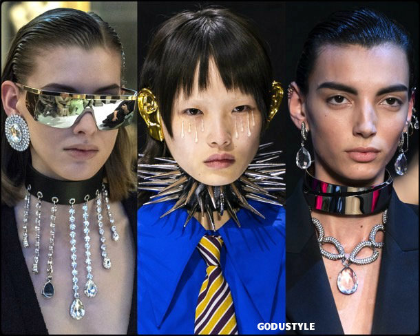 punk choker, jewelry, trends, fall 2019, winter 2020, fashion, look, style, details, joyas, tendencias, otoño 2019, invierno 2020, moda, design