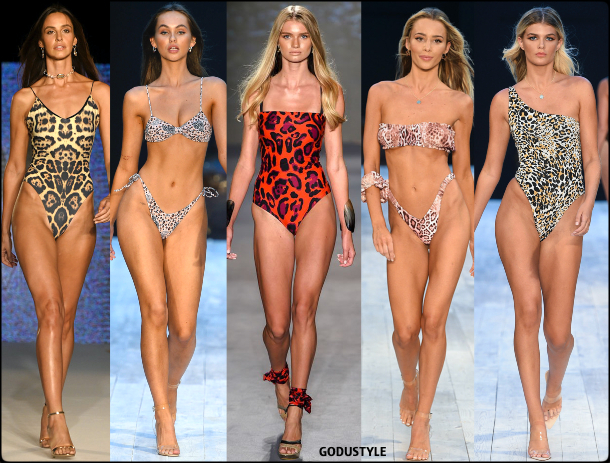 animal print, swimsuit, spring, 2020, swimwear, trend, look, style, details, miami swim week, moda, baño, bikini, bañador, tendencias, verano 2020, swim trends