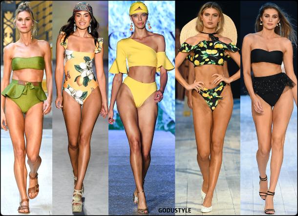 ruffles, swimsuit, spring, 2020, swimwear, trend, look, style, details, miami swim week, moda, baño, bikini, bañador, tendencias, verano 2020, swim trends