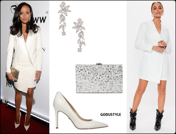 selita-ebanks-tuxedo-dress-party-fashion-spring-2020-trend-look-style-details-holiday-2019-godustyle