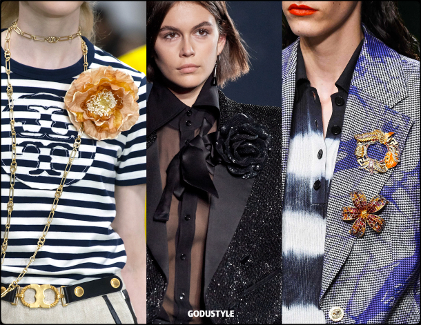 brooches, fashion, jewelry, spring, summer, 2020, trends, look, style, details, moda, joyas, primavera, verano, tendencias, broches