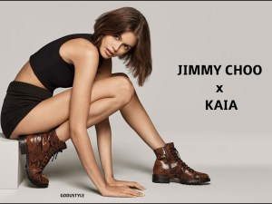 jimmy choo, kaia gerber, shoes, combat boots, slingback, mules, cowboy boots, capsule, collection, spring, summer, 2020, look, style, details, shopping, moda, zapatos, primavera, verano, colección cápsula