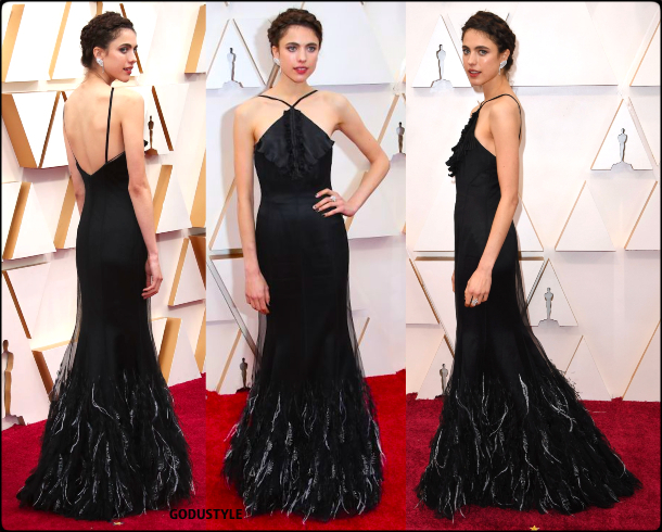 margaret qualley, oscars, 2020, red carpet, 2020, look, style, beauty, details, jewelry, accessories, moda, alfombra roja, oscar, belleza, joyas