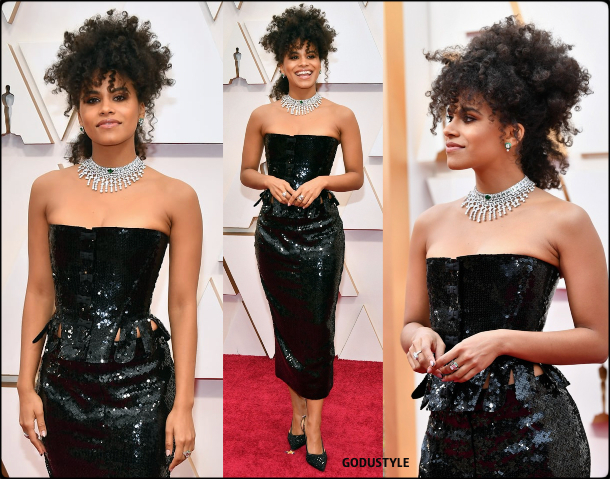 zazie beetz, oscars, 2020, red carpet, 2020, look, style, beauty, details, jewelry, accessories, moda, alfombra roja, oscar, belleza, joyas