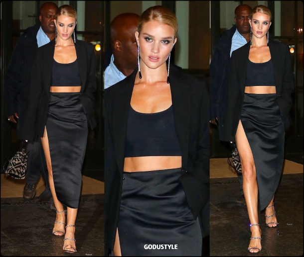 rosie huntington whiteley, fashion, bra top, bralette, tuxedo, spring, summer, 2020, trend, street style, look, shopping, outfit, style, details, moda, sujetador, tendencia, verano
