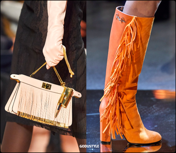 fringe, shoes, bags, fall, winter, 2020, 2021, accessories, trend, look, style, details, runway, bolsos, zapatos, moda, flecos, tendencia, invierno, otoño