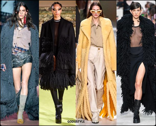 fringe, coat, fall, winter, 2020, 2021, trend, look, style, details, runway, boho chic, moda, flecos, tendencia, invierno, otoño