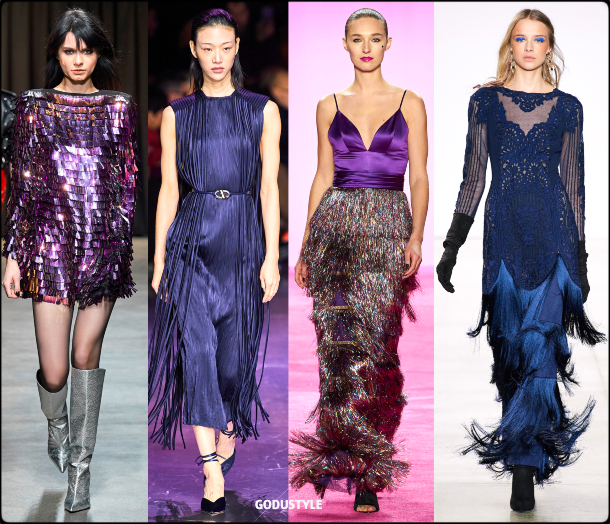 fringe, party, dress, fall, winter, 2020, 2021, trend, body, jewelry, look, style, details, runway, moda, flecos, vestidos, fiesta, tendencia, invierno, otoño