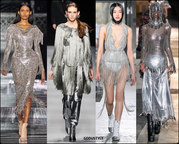 fringe, silver, dress, fall, winter, 2020, 2021, trend, body, jewelry, look, style, details, runway, moda, flecos, vestidos, joya, plata, tendencia, invierno, otoño