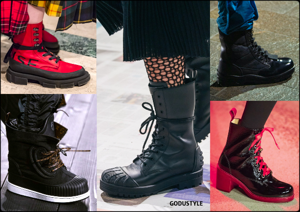 shoes, combat boots, fall, winter, 2020, 2021, fashion, trends, look, style, details, fashion weeks, designer, zapatos, moda, tendencia, botas combate
