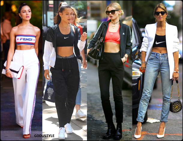 fashion, bra tops, street style, look, style, inspiration, athleisure, trend, sporty chic, outfit, fall, winter, 2020, 2021, moda, deportiva, tendencia