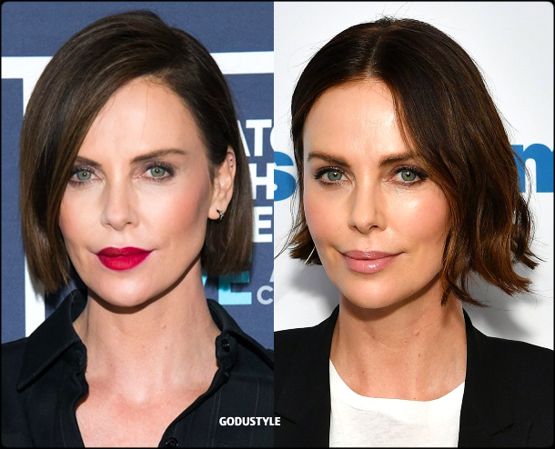 charlize theron, wavy bob, straight bob, fashion, bob, hairstyle, fall, 2020, winter, 2021, hair, trend, beauty, look, style, details, moda, tendencia, peinado, corte pelo