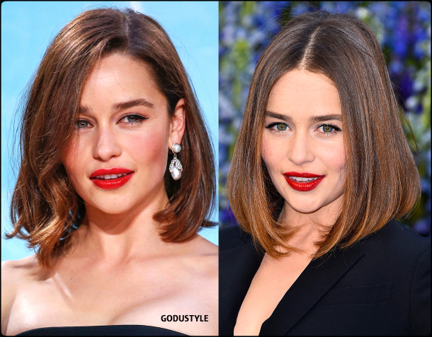 emilia clarke, wavy bob, straight bob, fashion, bob, hairstyle, fall, 2020, winter, 2021, hair, trend, beauty, look, style, details, moda, tendencia, peinado, corte pelo