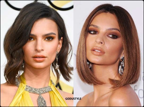emily ratajkowski, wavy bob, straight bob, fashion, bob, hairstyle, fall, 2020, winter, 2021, hair, trend, beauty, look, style, details, moda, tendencia, peinado, corte pelo