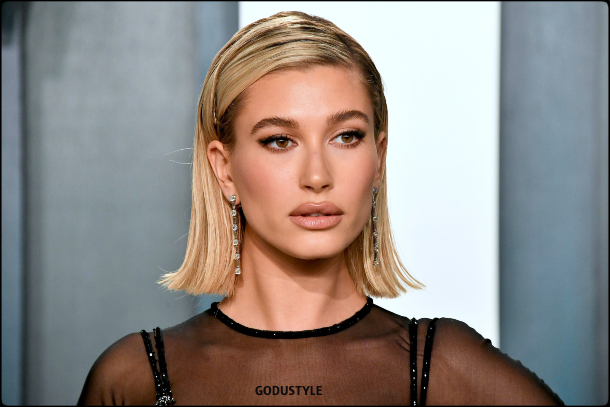 hailey bieber, wavy bob, straight bob, curly bob, fashion, bob, hairstyle, fall, 2020, winter, 2021, hair, trend, beauty, look, style, details, moda, tendencia, peinado, corte pelo