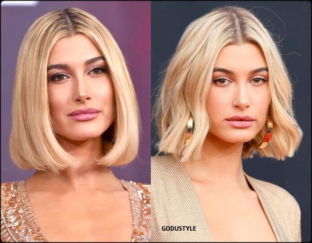 hailey-bieber-wavy-bob-fashion-hairstyles-fall-winter-2020-2021-beauty-look-style-details-moda-peinado-godustyle