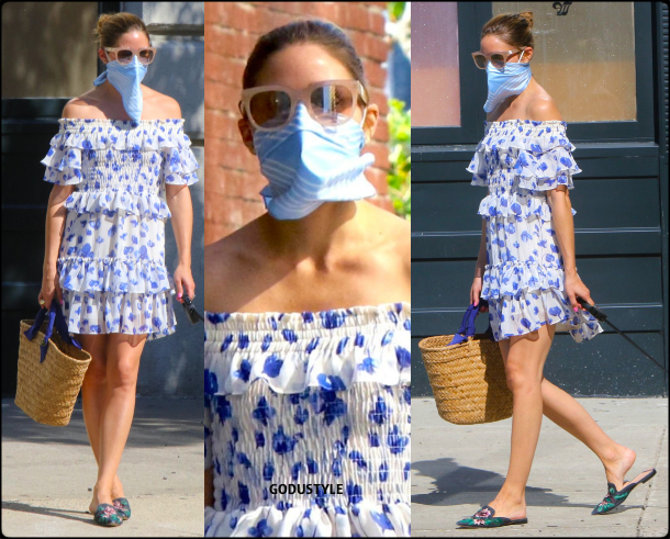 olivia palermo, fashion, looks, street style, scarf, face mask, scarf face mask, summer, 2020, look, style, details, outfit, inspiration, influencer, moda, mascarillas, pañuelo