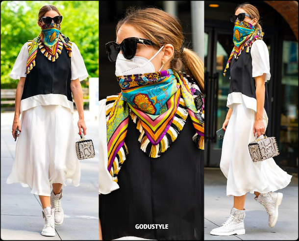 olivia-palermo-fashion-scarf-face-mask-trend-street-style-look5-details-july-2020-moda-godustyle