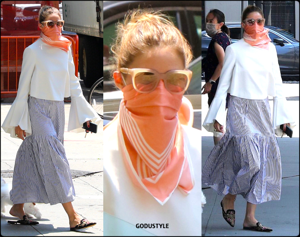 olivia-palermo-fashion-scarf-face-mask-trend-street-style3-look-details-july-2020-moda-godustyle