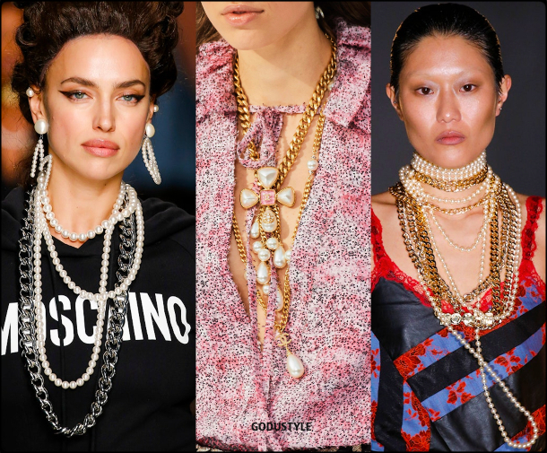 jewelry, fashion, pearl, necklace, trend, fall, 2020, winter, 2021, look, style, details, luxury, runway, design, inspiration, moda, joyas, perlas, collar, tendencias, otoño, invierno