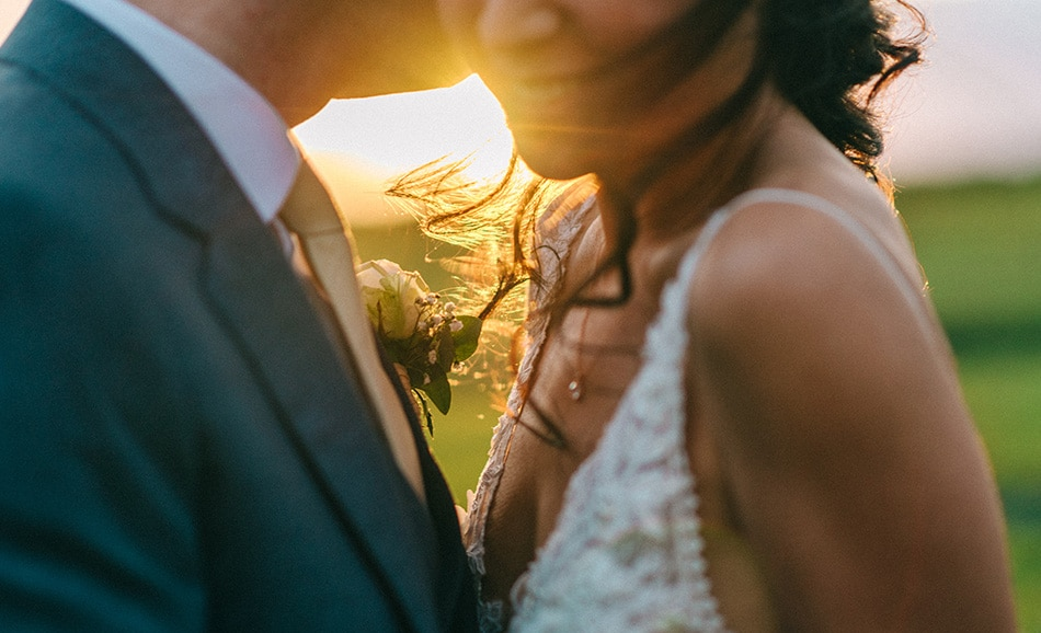 Sarah Jane Ethan - dappled evening sunlight sets on a Godwick couple