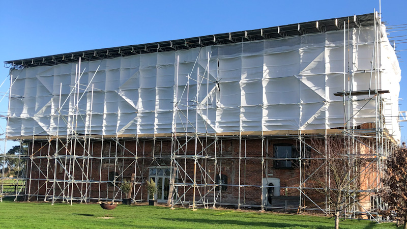 Godwick Great Barn's roof refurbishment project in 2020
