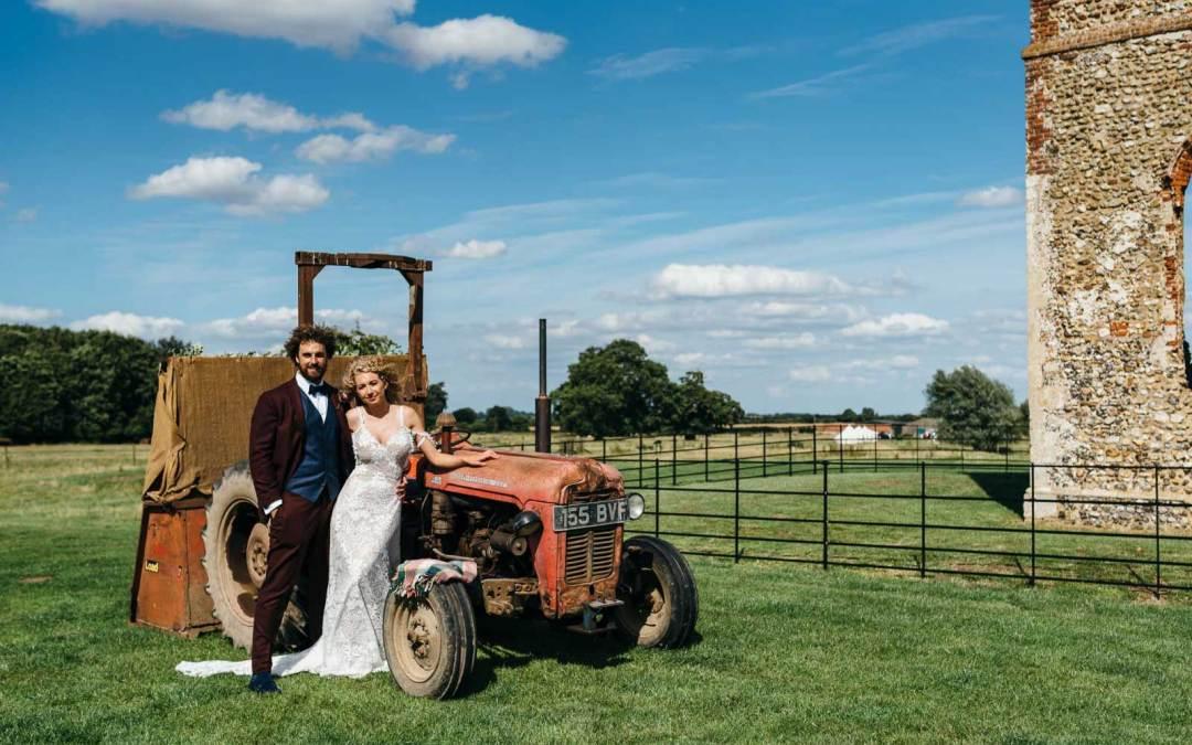 Gina and Ben's summer Godwick wedding