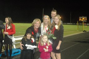 Emily Dabbs with 2012 Homecoming Queen and Principal Beth Armbruster