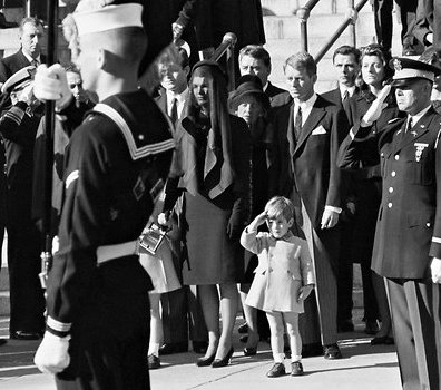 President Kennedy's son, John Jr. saluting at the funeral.