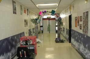 The Driver's Ed and Marketing hallway.