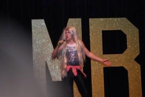 Senior Conor Coleman impersonating Miley Cyrus.