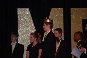 Mr. MG winner senior Bryan Martter being crowned.