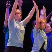 Caitlin Williams participates in dance