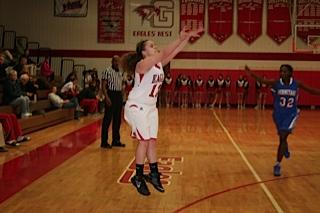Megan Sherman shoots the ball