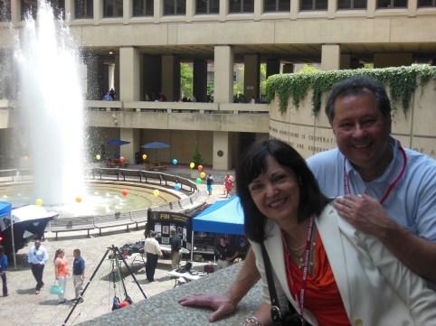 Spanish teacher Marina Andueza at the FBI building in Washington.