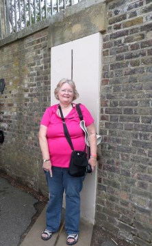 Exceptional education teacher Jennifer Andrews at the Prime Meridian.