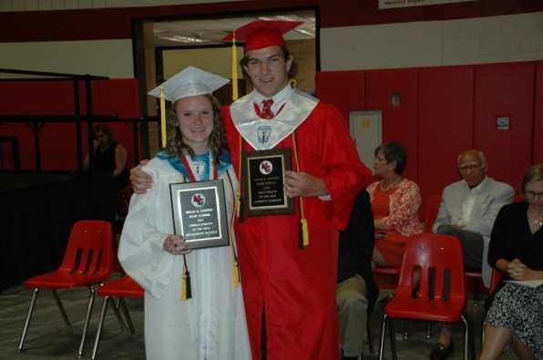 Athletes of the year Katherine Benfer and Garrett Lemelin