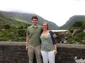 English teacher Rebecca Maley in front of the Gap of Dunloe in Ireland.