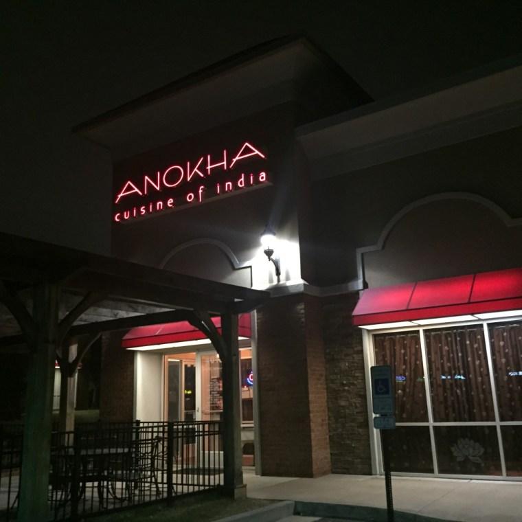 Outside of Anokha Cuisine of India