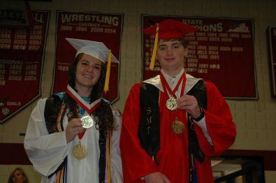 Emily Walker valedictorian and Gus Beane salutatorian