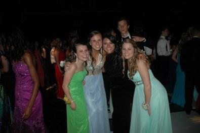 Junior girls dancing the night away.